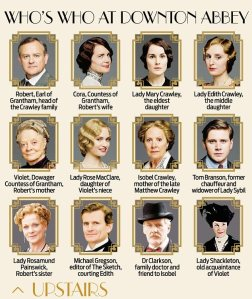 Downton's upstairs folk